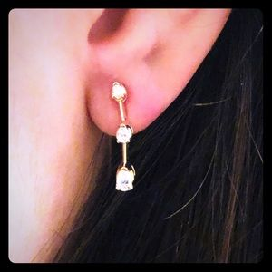 Real Tear Drop Diamond Earrings in 14kt Gold